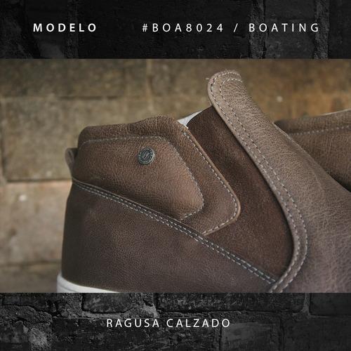 zapatillas / botitas cuero boating hombre - envío gratis!!