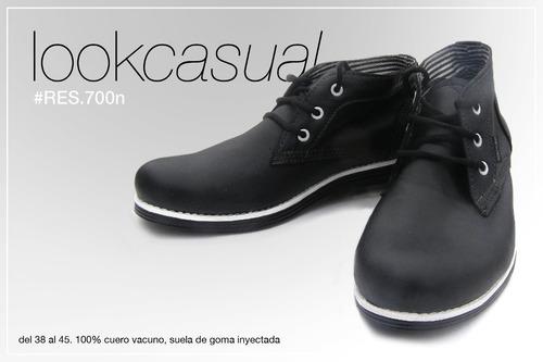 zapatillas botitas urbanas  %100 cuero hombre