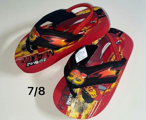 zapatillas cars talla 7/8 americano para niño
