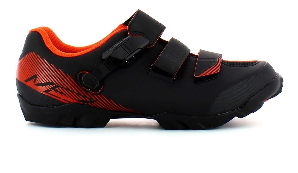 venta caliente real pero no vulgar ofertas exclusivas Zapatillas Ciclismo Mtb Shimano Me 300 Negro Con Naranja