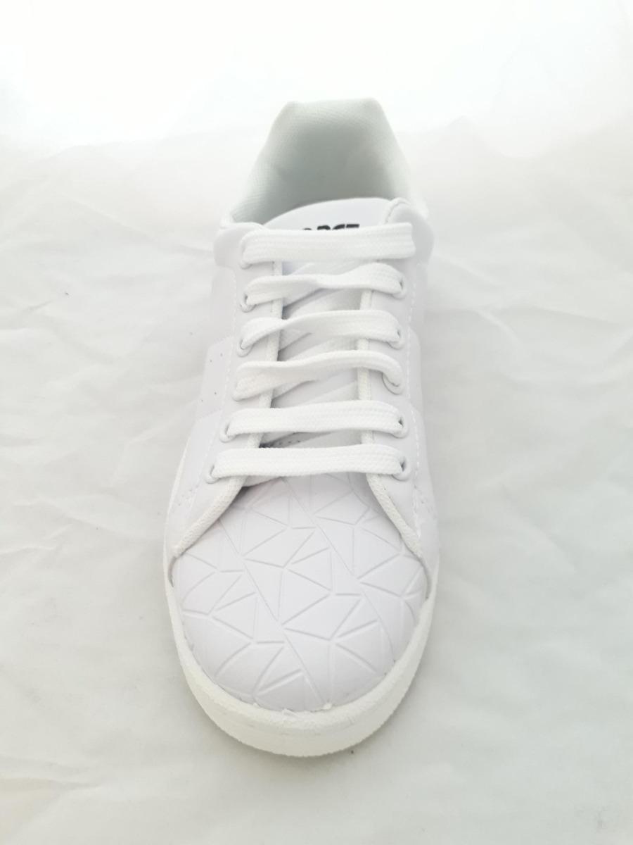 Zapatillas Clásicas Blancas Lisas Mujer Livianas Cuerina