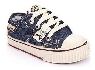 zapatillas clásicas jaguar lona jean infantil talles 30 31