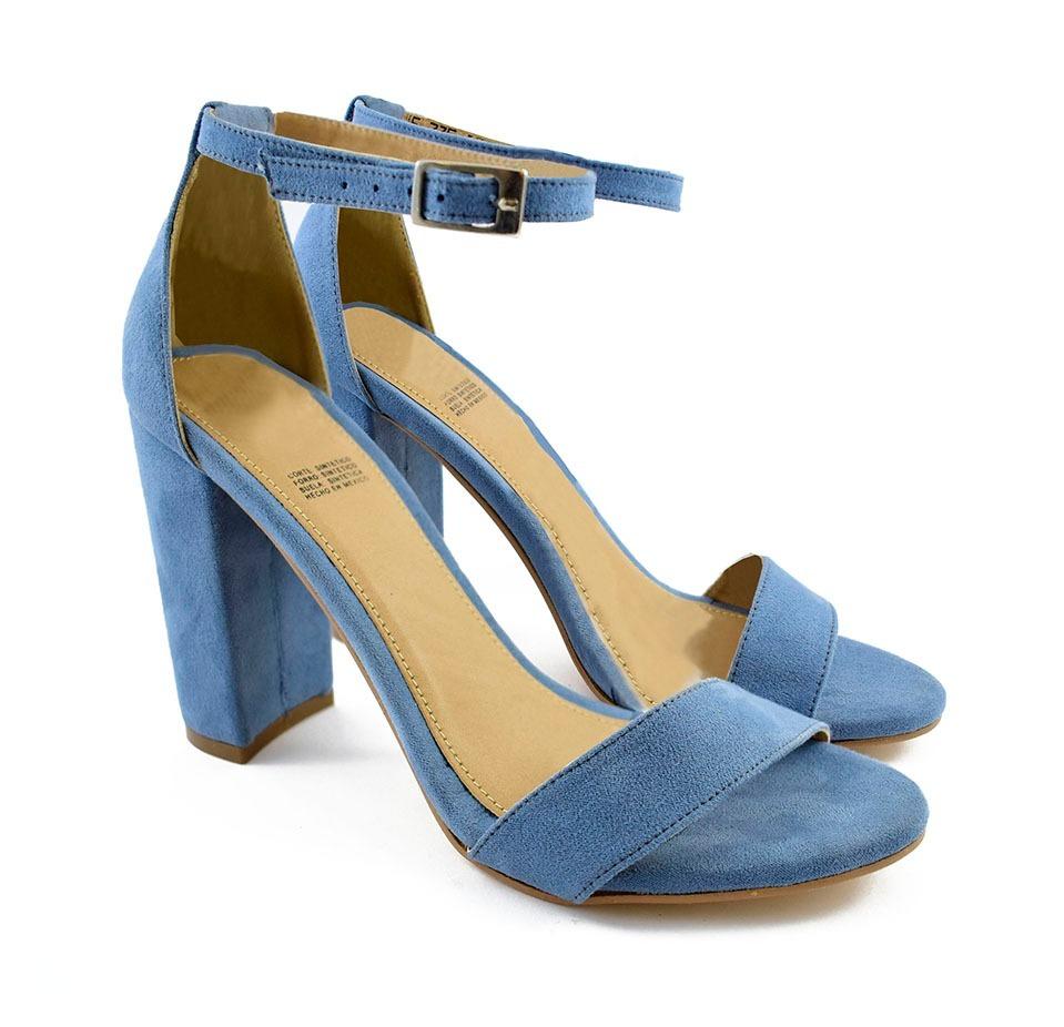 715e461c8f19a zapatillas color azul tacón 10 cm cantareli 735 mona shoes. Cargando zoom.