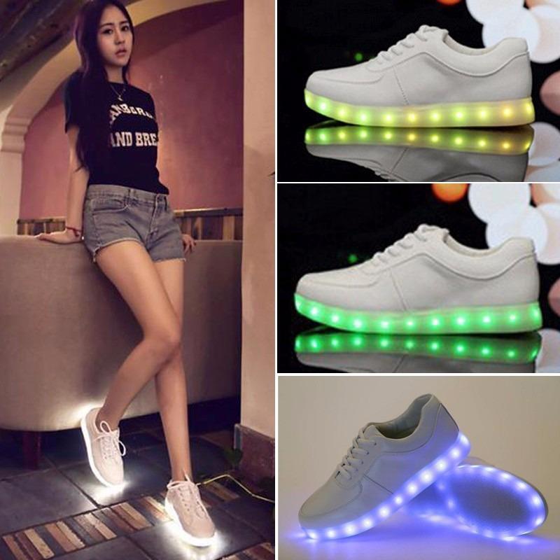 6584f749bc6 zapatillas colores led luces usb moda 2018 hombre mujer nene. Cargando zoom.