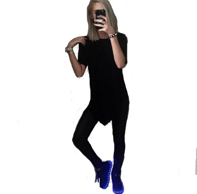 29e74682ab5 Zapatillas Colores Led Luces Usb Moda 2018 Hombre Mujer Nene ...
