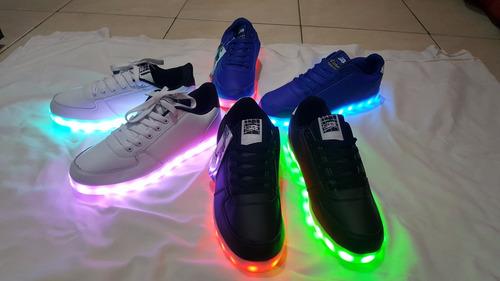 zapatillas con luces led 10 colores usb unisex