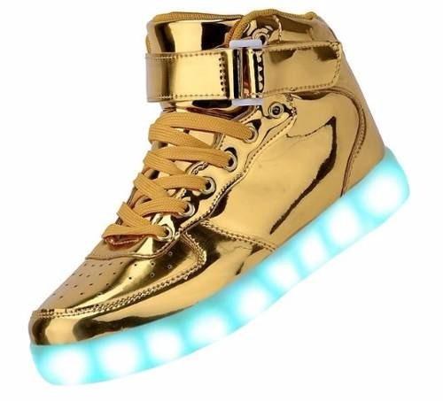 zapatillas con luces led 7 colores unisex talles 35 al 43