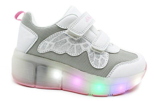 zapatillas con luces y ruedita jaguar art 4014 eg