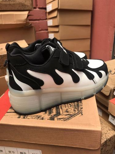 zapatillas con ruedas led roller shoes unisexo