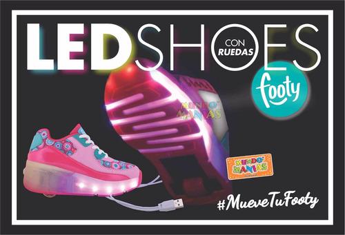 zapatillas con ruedas luz led para patinar footy mundomanias