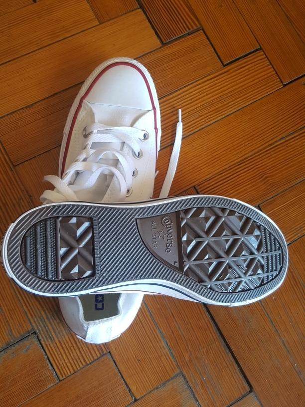 b6501176dd6 zapatillas converse all star blancas de lona talle 39. Cargando zoom.