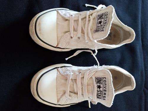 zapatillas converse all star blancas. niña. usadas