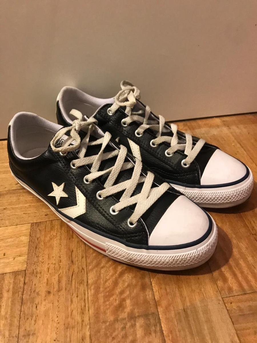 2ed65c9d5e8 zapatillas converse all star cuero negras. Cargando zoom.