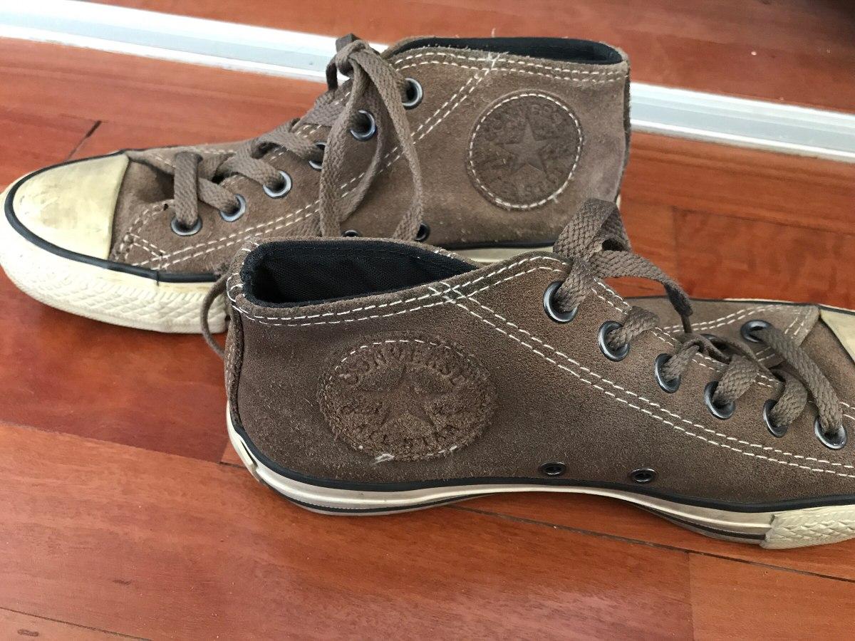 0ea8c3c4b52ea Zapatillas Converse All Star Gamuza Marrón - $ 450,00 en Mercado Libre