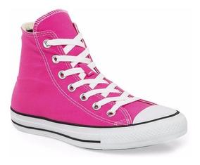 converse niña rosa brillante