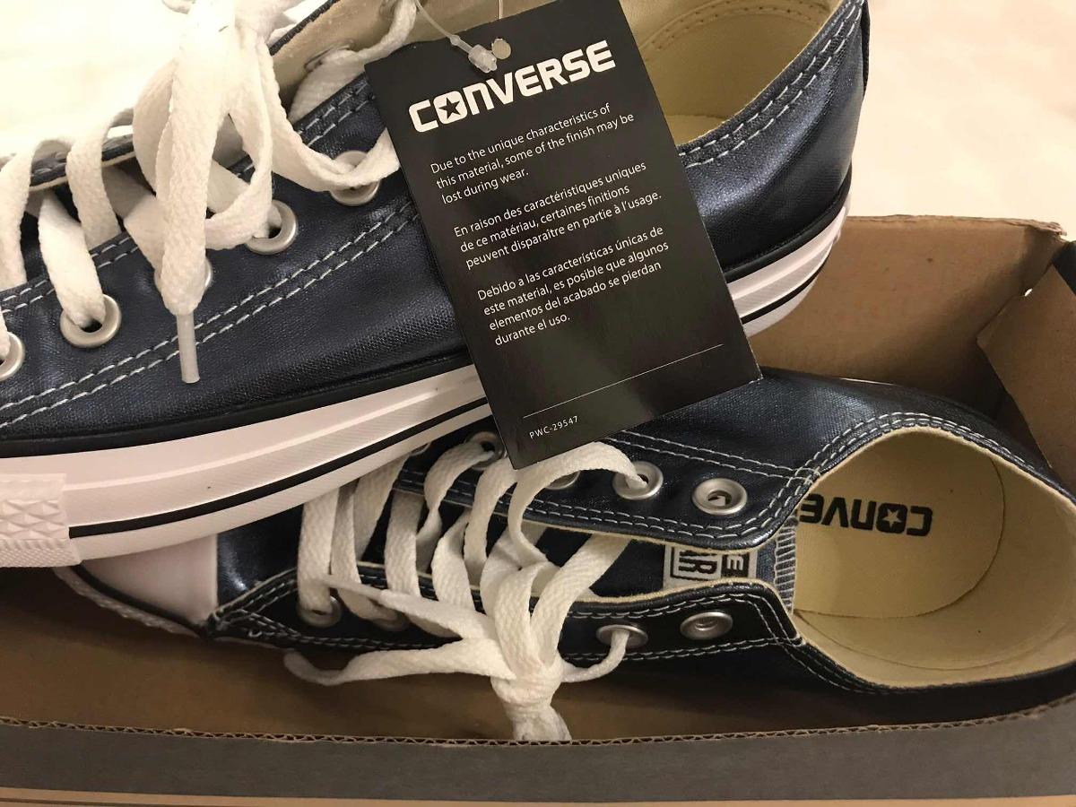 converse metalizadas azul