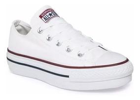 zapatillas converse mujer plataforma blancas