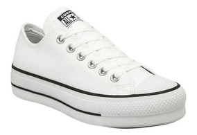 converse all star blanca piel