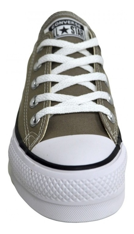 converses grises mujer plataforma
