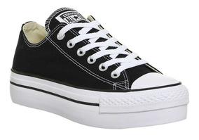 zapatillas converse negras plataforma mujer
