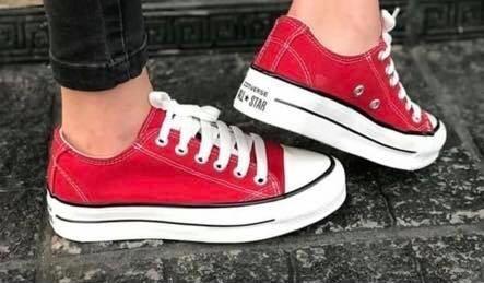 zapatillas converse all star mujer rojas