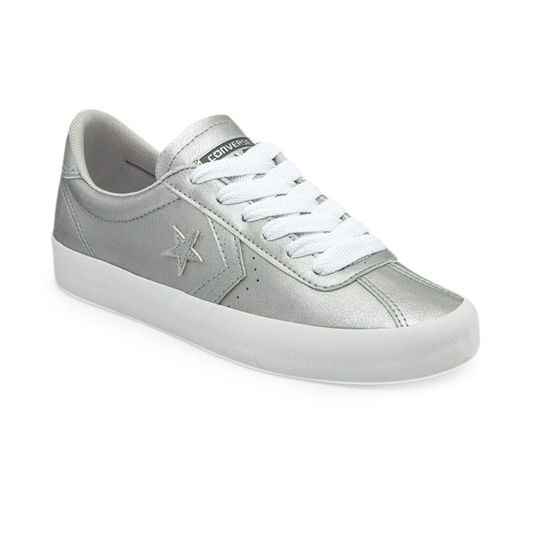 zapatillas plateadas converse