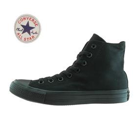 zapatillas converse negras con caña