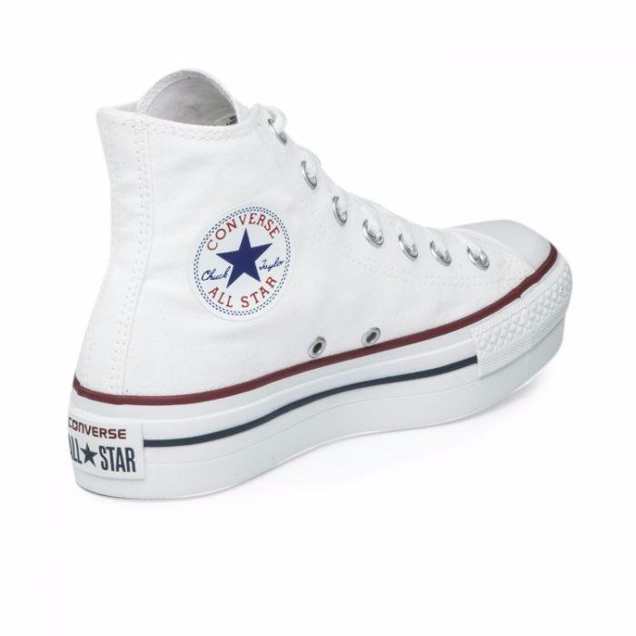 zapatillas converse caña alta blancas