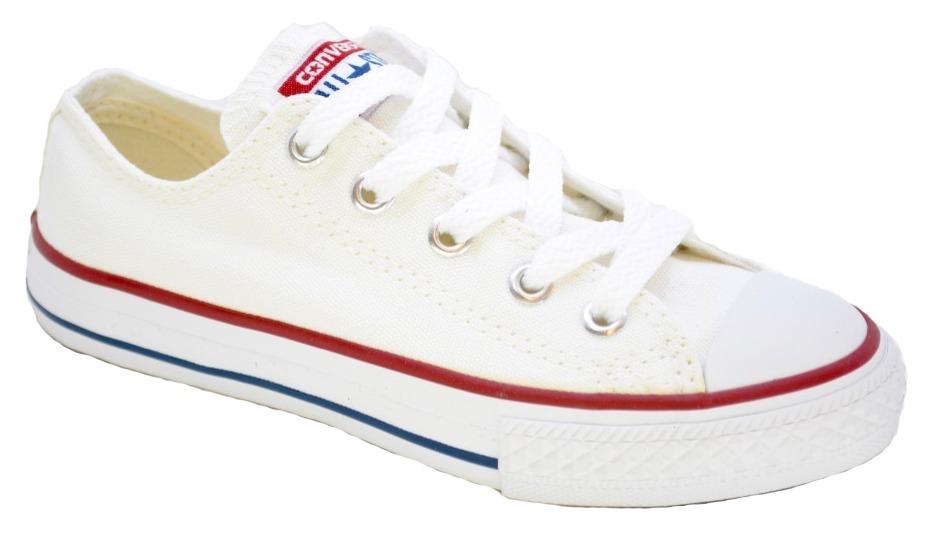 zapatillas converse niños blanco