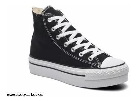 Zapatillas Converse Chuck Taylor Plataforma Bw Botas Negras