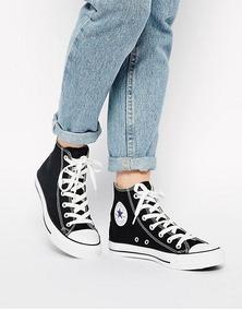zapatillas de mujer converse negras