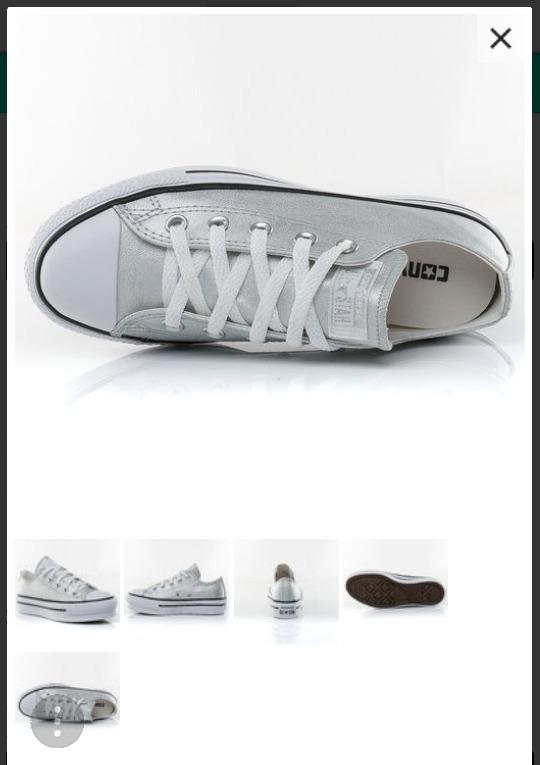 zapatillas converse plataforma plateadas