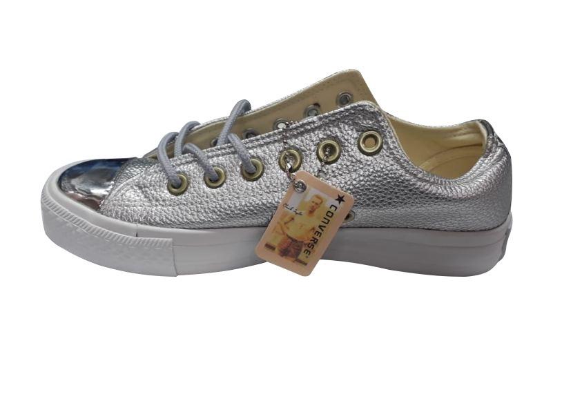 Cuero Zapatos Zapatillas 118 990 Hombres Converse Gris qwqOPFvI