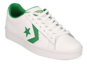 Zapatillas Converse Hombres Pro Leather 76 Ox Blancoverde 1