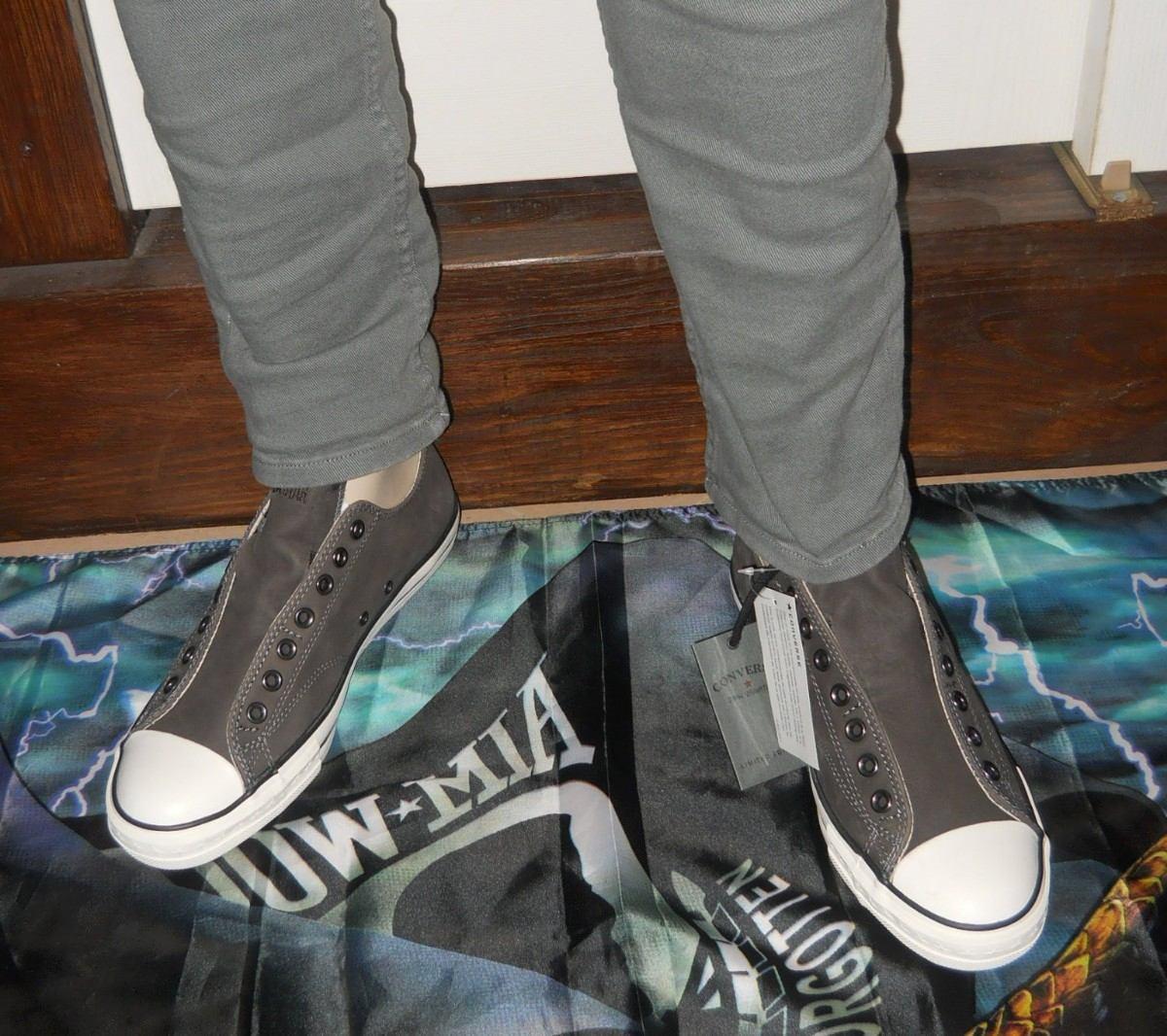 zapatillas converse de cuero de hombre