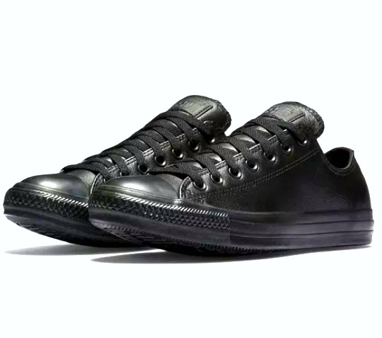 67bad464 ... norway zapatillas converse low de cuero negro talla unica 38 b3b6f 1b512