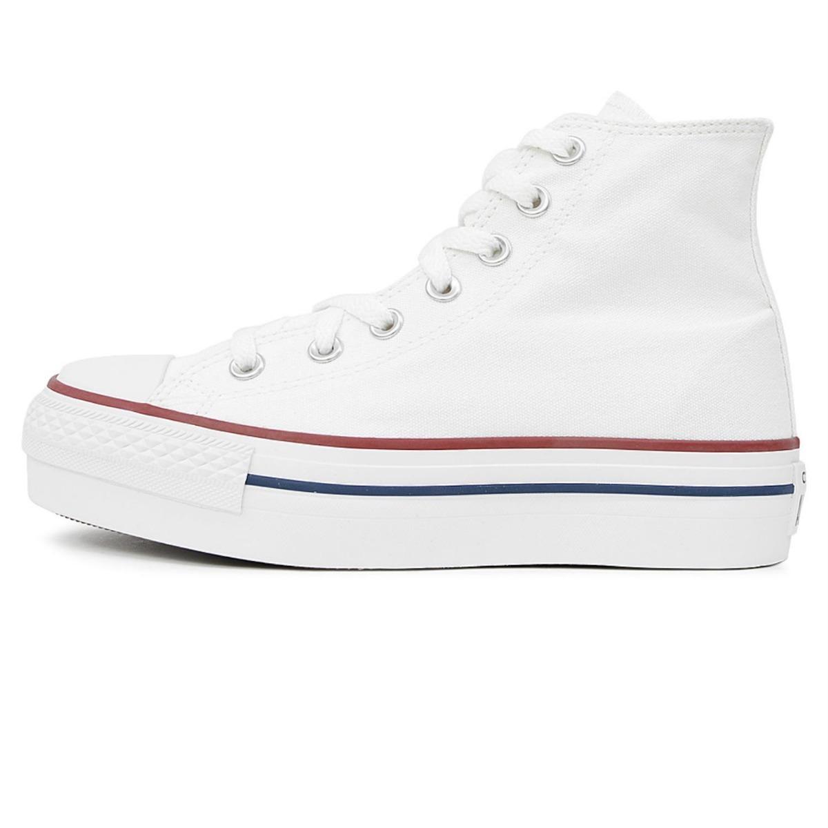 zapatillas blancas converse mujer plataforma