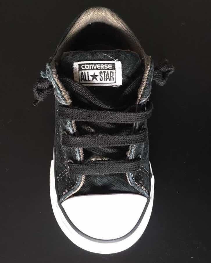 Zapatillas Converse Negras Niños T:24 Con Elástico $ 800,00