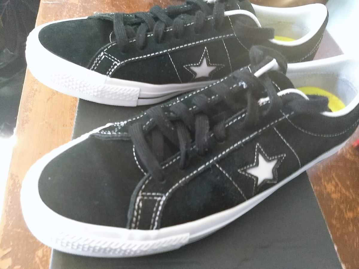 converse negras one star
