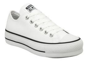 zapatillas converse mujer blancas cuero