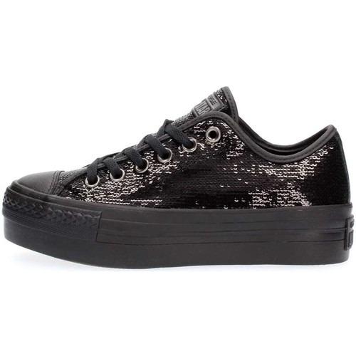 zapatillas converse negras con plataforma