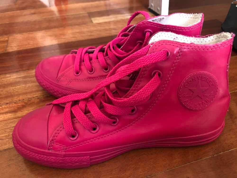 673f7d0cd zapatillas converse rosas niña de goma. Cargando zoom.