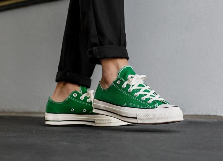 converse verde hombre
