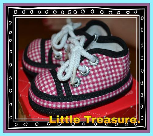 zapatillas cuadritos talles 14 y 15 bbton little treasure.