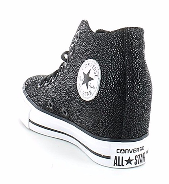 97c2a1b044f Zapatillas Cuero Converse All Star Lux !! Taco Escondido ...