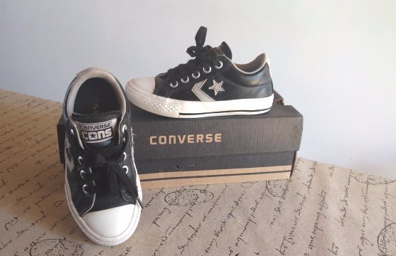 zapatillas niño converse cuero