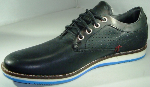 zapatillas cuero urbana stone precio fabrica art 1574 negro