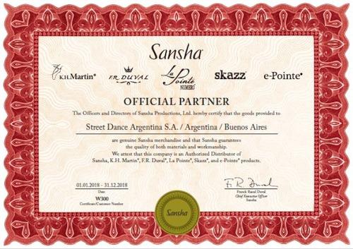 zapatillas danza baile jazz sansha magnet - orig + garantía