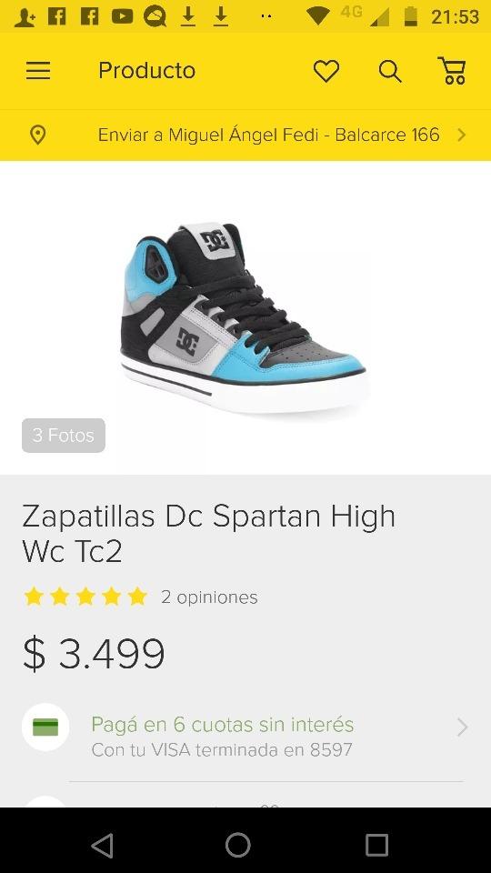 8c42ba65 Zapatillas Dc Originales - $ 1.800,00 en Mercado Libre