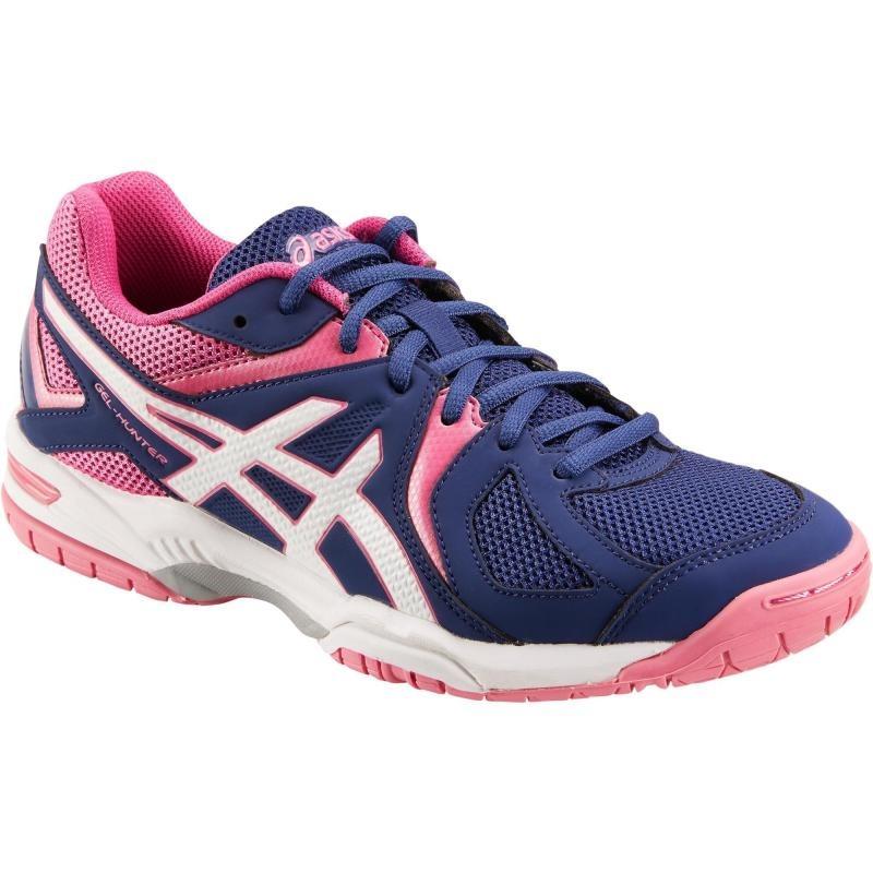 zapatillas asics azul y rosa